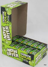 Now and Later Extreme Sour Apple Soft Chews 24 ct 6 pc bars Bulk Candy Candies