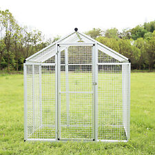 Large Bird Cage Walk In Aviary Pet House Play Top Parrot