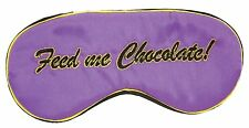 Novelty Eye Mask  Feed me Chocolate, funny adult joke blindfold Secret Santa