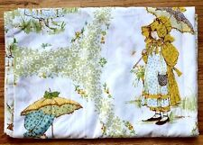 Vintage Holly Hobbie Twin Flat Bed Sheet American Greetings Fabric Material