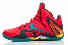 MENS NIKE LEBRON XI ELITE SHOES SIZE 13 crimson green black 642846 600