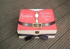 vintage santa claus suit father christmas eve treat personalised wooden box