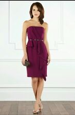 COAST ** CAGGIE** BANDEAU PURPLE DRESS SIZE 18  NEW WITH TAGS