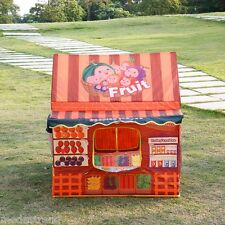 Folding Kid Fun Play House Tent Fruit Shop For Children Kids Indoor Outdoor Use