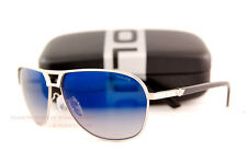 Brand New POLICE Sunglasses S 8849M 589B Ruth-Black/Gradient Mirrored Blue Men