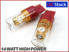 2x 14W CREE HIGH POWER LED W21W 7440 T20 TAIL STOP BRAKE BULBS RED fit TOYOTA
