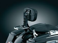 KURYAKYN BLACK & CHROME MULTI-PURPOSE DRIVER & PASSENGER BACK REST HARLEY FLH FL