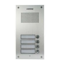 COMMAX INTERCOM: 4 Buttons Audio Door Panel for Apartments and Residence DR-4UM