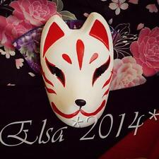 2016 Full Face Hand-Painted Japanese Fox Mask Kitsune Cosplay Masquerade Party
