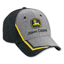 JOHN DEERE *2 TONE DENIM* Construction Trademark Logo HAT CAP *BRAND NEW w/Tag!*