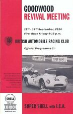 Goodwood Revival Meeting 12-14 September 2014 official programme
