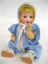 Antique Heubach Koppelsdorf Bisque Head Baby Doll 300-10/0 Germany  10 Inches
