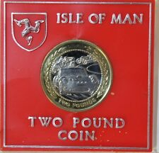 Rare 1997 IOM Isle of Man Small Queens head Rally Car £2 Two Pound cased coin