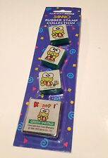 Vintage Hello Kitty Sanrio 1995 Keroppi Stamp Collection Set w Stamp Pad NIP