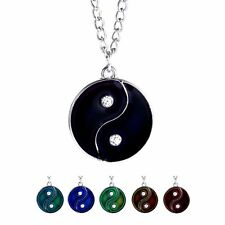 Sensitive MOOD Colour Changing Ying Yang Sign Pendants Necklaces Friendship