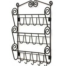 Hanging Mail Organizer Letters Key Mounted Wire Rack Decor Holder Leash Foyer