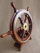 Vintage Wooden Ships Wheel Boat Yacht Sailing Original Home Art Deco