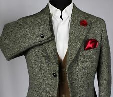 Harris Tweed Blazer Jacket Wedding Country Races 38S HAND MADE GARMENT 583