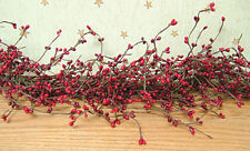 "Pip Berry Garland in Red & Burgundy - 4' / 4 FT / 48"" - Christmas Patriotic"