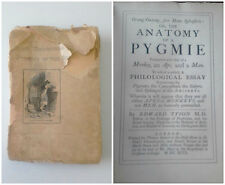 1894 A Philological Essay Concerning the Pygmies of the Ancients by Edward Tyson
