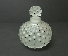 """LALIQUE FROSTED CRYSTAL """"CACTUS"""" No. 1 PERFUME BOTTLE with ENAMEL DECORATION"""