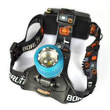Boruit 6000Lm T6 LED Zoomable Headlamp 18650 Headlight Torch Light flashlight