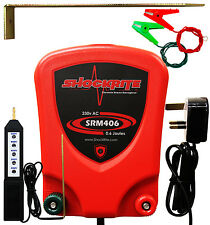 Electric Fence Mains Energiser ShockRite SRM406 0.6J Fencer Unit + Tester
