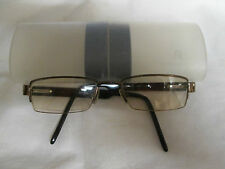 Rodenstock black / brown semi rimless glasses frames. R1034.