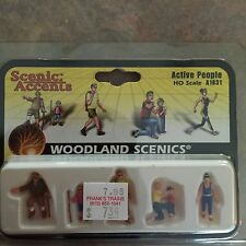HO Scale Woodland Scenic Active People NIB