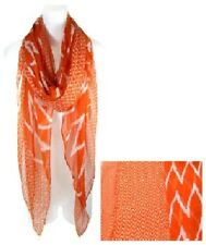 Orange Chevron Fashion Scarf
