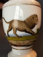 Early Rare 19thc Antique Paris Porcelain Vieux French Pitcher Jug w Lion Cat