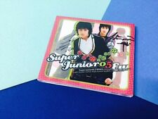 Super Junior 1st album Super junior 05 autographed by all members.