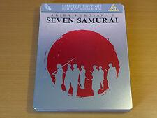 Seven Sieben Samurai - Zavvi Limited Edition Steelbook [Blu-ray] mit Prägung RAR