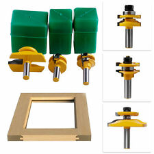 3Pc 1/2'' Shank Rail & Stile Ogee Blade Cutter Panel Cabinet Router Bits Set Hot