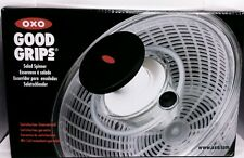 salad spinner 27cm by oxo good grips press down knob to spin