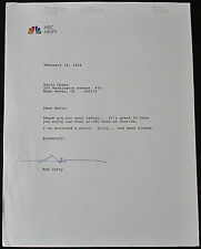 Ann Curry Signed 1994 Letter: NBC TV News Journalist Correspondent Anchor