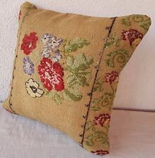 16''X16'' French Decor Needlepoint Tapestry Aubusson Handwoven Rug Pillow Cover