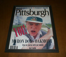 1994 PITTSBURGH MYRON COPE DOES OAKMONT FRAMED PRINT