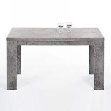 Esstisch Foxy Esszimmertisch Tisch in Beton Optik ausziehbar 140-200x80 cm