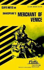 The Merchant of Venice (Cliffs Notes) by McNeir, Waldo F
