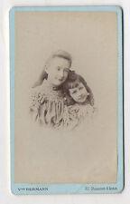 CDV - PHOTO Portrait Enfant jeune fille - HERMANN - PARIS - Vers 1900 coiffure