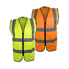 Blackrock ZIPPED Executive Hi Vis Vest High Viz Waistcoat Yellow Orange BHZEV