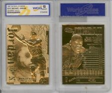 1997 MICHAEL JORDAN SKYBOX Z-FORCE 23KT GOLD CARD GEM MINT-10