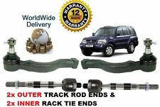 FOR MITSUBISHI SHOGUN PAJERO 2000-2006 2x OUTER 2x INNER TIE TRACK RACK END ROD