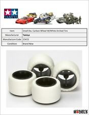 Mini 4wd SMALL DIA. CARBON WHEEL & WHITE ARCHED TIRES(SUPER X-XX) Tamiya 15415