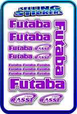 FUTABA SERVO RADIO RX TX 2.4G FLIGHT REMOTE CONTROL STICKERS FASST PURPLE WHITE