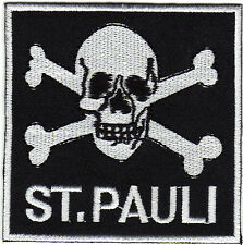 Aufnäher Bügelbild Iron on Patches Skull St. Pauli Hamburg Szene Kult (a3q2)