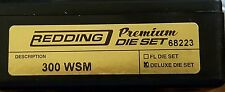 68223 REDDING 3-DIE PREMIUM DELUXE BOTTLE NECK SET - 300 WSM - BRAND NEW