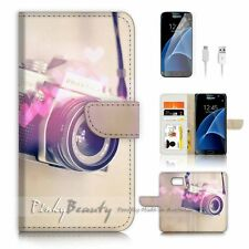 Samsung Galaxy S7 Flip Wallet Case Cover P1465 Old Camera