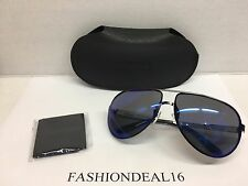 New Authentic Carrera Aviator Gunmetal/Blue Mirrored 102/S R80XT Sunglasses